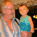 Poppaw and Autumn,one of the Great grand kids