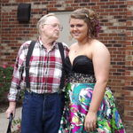 with his grandbaby before prom.