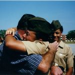 Daddy and I when I graduated from Marine Corps Bootcamp.