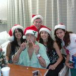 Blanquita, dad (acting goofy), Meli, Clarke Ana and Jessica