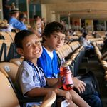 Lil Jason and Fabian.  Dodger game 2008