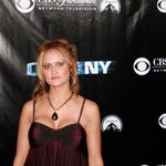 Csi ny television party.  She looked so go and was so excited to attend my work party and meet all the actors