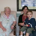 Frances, Lisa and great grandson Harris Cline visiting in Oct 2009