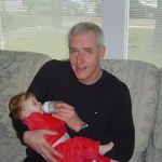 Peyton with her Godfather, Norman Thibodeau.