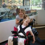 Moira and Peyton on our trip to Boston Children's Hospital in August 2012.