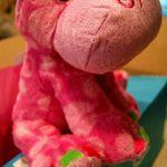 Peyton's favorite toy - Pink Hippo!
