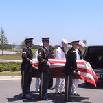 Burial Service at Jacksonville, Fl National Cemetary