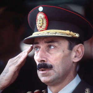  Former Argentina&#39;s President Gen. Jorge Rafael Videla attends a ceremony in Buenos Aires in this March 24, 1977, file photo. 