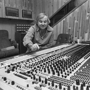 In this March 16, 1979 file photo, Mack Emerman, owner of Criteria Studios in Miami points out one of the multitude of control knobs on a recording console. Emerman's studio recorded such artists as the Bee Gees, Eric Clapton, Andy Gibb and Dave Mason. Emerman family confirmed his death this week after a long illness. He was 89.