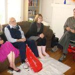 L to R: Marietta (twin Karl's spouse), Ken, Joanna (Karls g.d.), Brian (Karl's #3)