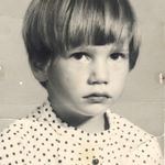 My earliest picture I have of Kathy.  Our little sourpuss!