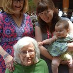 Four generations:  Margaret M,  Margaret S., Magie and Lucia on 6-3-13