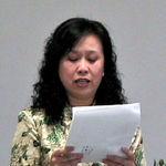 Organizing China Earthquake Memorial, May 31, 2008; 1 of 11. Also on video (15 minutes). [No.44: China Earthquake Memorial, uploaded 9/27/13]