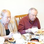Gail and John, Thanksgiving dinner 2012