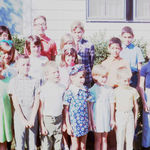 Our childhood friends. Bill is in the middle row 2nd from left.