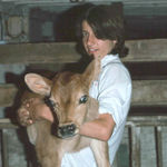 Bill is holding Joyce's favorite calf.