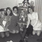 Linda, Mary Jane, Mary Louise and I, Christmas 1967