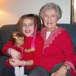 Grammie and great-granddaughter Melanie.
