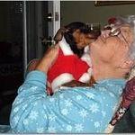 Christmas 2011 Mom with Mindy at Christmas.  She loved Christmas and wild pjs
