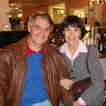 Ron and Anne at a Christmas party