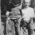 Dick and Peg with catch