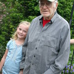 Great Grampa Bethke with Ella