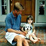 Stoney with his dad's niece Josie, at her parents home in Cincinnati.