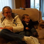 Dad and grandson Andrew
