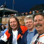 Joe with friends Larry and Barry enjoying a favorite pastime, the Detroit Tigers.