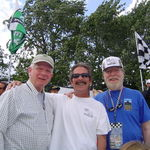 Joe with friends Larry and Barry at the 2012 Detroit Grand Prix.