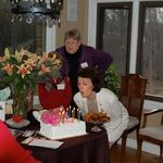 Mom's 83rd birthday with the girls