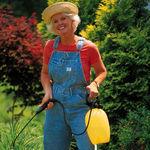 Margaret tending her garden!