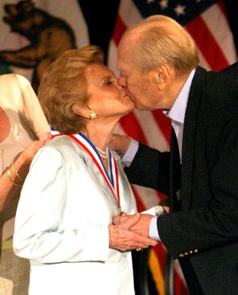 how did gerald ford meet betty