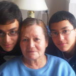Hilda with her Grandsons Rich and Chris