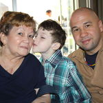 Hilda with her son Jose, and grand son Angel