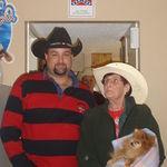 Grandma Sporting a COWBOY Hat :) ~ Christmas Eve 2004