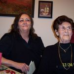 Grandma and Aunt Susie, Christmas 08