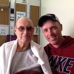 Claris and Terry during one of his many hospital stays