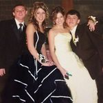 High School prom with his sister and friends