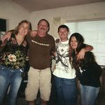 """Terry (dad), Roni (""""Ma""""), Korin (cousin) with Tom"""