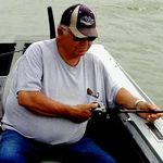 Delbert fishing the Missouri River