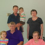 July 2013:  5 Generations:  Evelyn, Ron, Kim, Ben, Ellie and Brodie