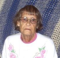 Clara Mae Evans obituary photo