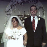 Daryl and Janice Stout, on their wedding day of May 18, 2003, at the Community Church Of God, in Bryant, Arkansas