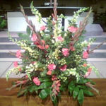 Picture of the flowers Daryl took out in memory of both Janice, and his late father, J.D., at Second Baptist Church, Little Rock, Arkansas (Daryl's one time church home).