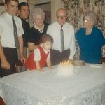 "Daddy, Uncle Dicky, Nana, Grandad and ""Mom"""