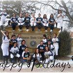 Dickinson State University team Christmas photo, 12/12/2009.