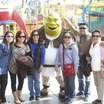 With sister, Tita, and nephews and nieces. Universal Studios Hollywood.