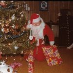 I helped Johnny get this Santa suit in downtown GR many, many years ago at a theatrical store.  He has sooooo many stories  to tell about entertaining so many families at Christmas!  Even at Midnight Mass!!  RIP my friend...you are missed!!