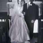 Patricia and Wayne wedding day - 1955